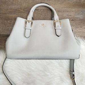 Kate Spade Grey Medium Crossbody Leather Purse CL
